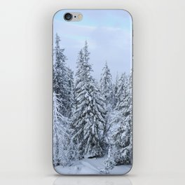 Snowy forest at the White Mountain iPhone Skin