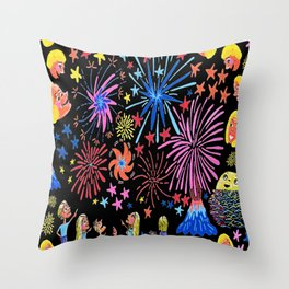 let's go see fireworks Throw Pillow