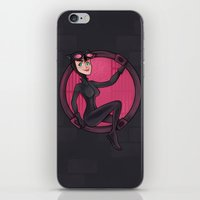 catwoman iPhone & iPod Skins featuring Catwoman by Blanca Limón