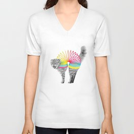 Slinky Cat Unisex V-Neck