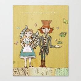 How Strange It Is - Alice in Wonderland Canvas Print