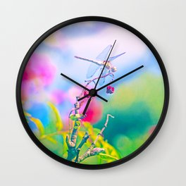 Dragonfly Dream a while Wall Clock
