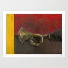 Taxi Horn Art Print