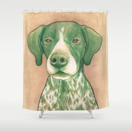Pointer dog - Jola 02 Shower Curtain
