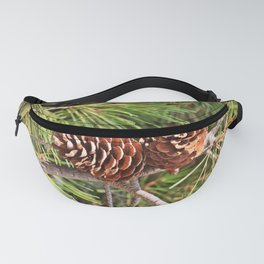 Pinecone on pine tree Fanny Pack