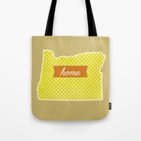 oregon Tote Bags featuring Oregon by Embellished Key