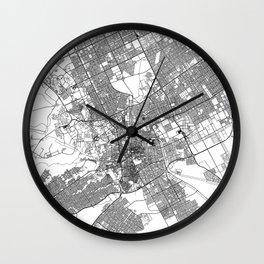 Riyadh White Map Wall Clock