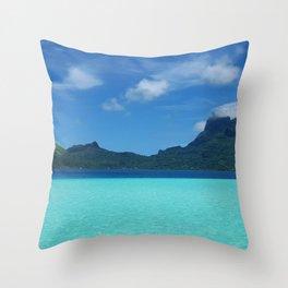 Bora Bora Ocean Throw Pillow