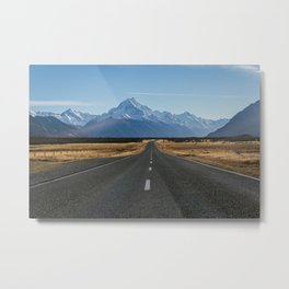 On our way to Mount Cook Metal Print