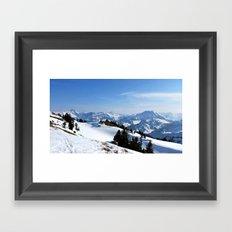 Winter Paradise in Austria Framed Art Print