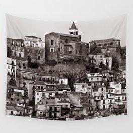 "Urban Landscape of Sicily ""VACANCY"" zine Wall Tapestry"