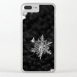 Snowflake of night Clear iPhone Case