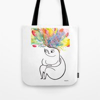 rubyetc Tote Bags featuring inside and out by rubyetc