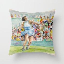 Serena Williams_Pro tennis player Throw Pillow