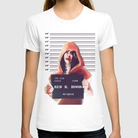 red hood T-shirts featuring Red Riding Hood by adroverart