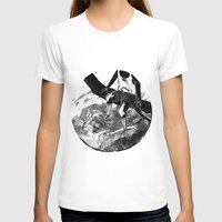 planes T-shirts featuring paper planes by Rzuud