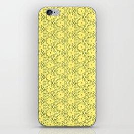 Yellow Decorativ Pattern Design iPhone Skin