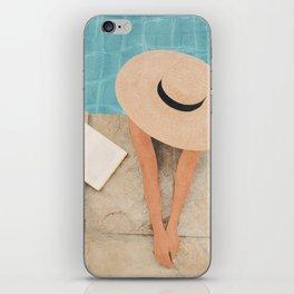 On the edge of the Pool II iPhone Skin