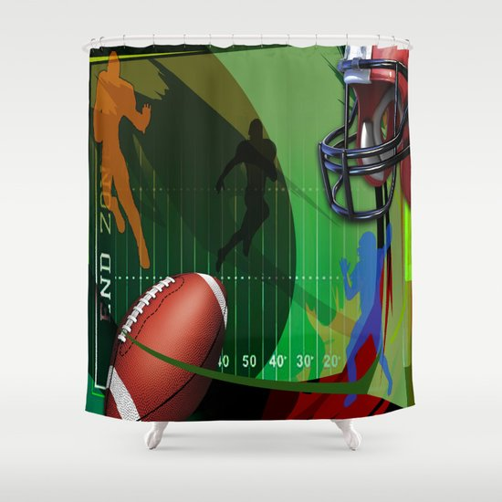 Football Shower Curtain by robincurtiss | Society6