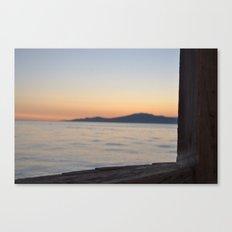 just beyond the ledge Canvas Print