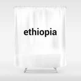 ethiopia Shower Curtain