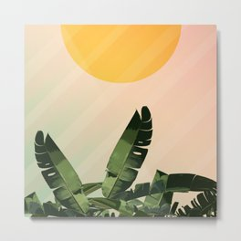Sunny heliconia Metal Print