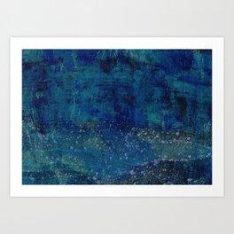 Turquoise Canyon Art Print