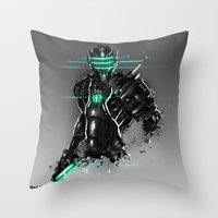 suit Throw Pillows featuring Omega Suit by Benedick Bana