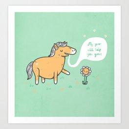 My poo will help you grow! Art Print