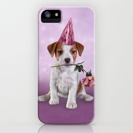 Drawing Puppy Jack Russell Terrier iPhone Case