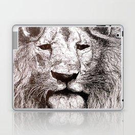 Lion Drawing Illustration Ink Black and White Laptop & iPad Skin