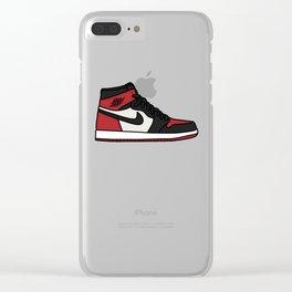 Jordan 1 Bred Toe Clear iPhone Case