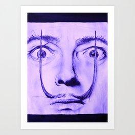Purple Dali  Art Print