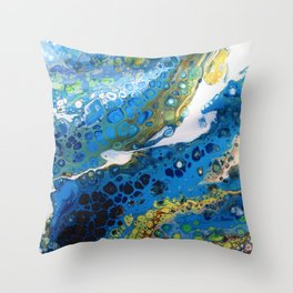 River Flow Throw Pillow