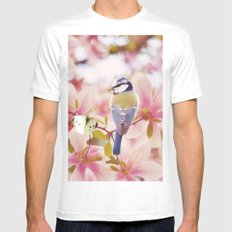 Blossom Buddies Mens Fitted Tee White MEDIUM