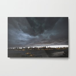 New York Before the Storm Metal Print