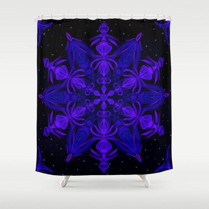 Crystal Blossom Adrift Shower Curtain