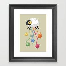 Wool Thread Framed Art Print