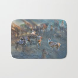 Red Deer Dreams at Dawn Bath Mat
