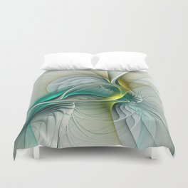 Fractal Evolution, Abstract Art Graphic Duvet Cover