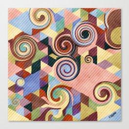 Swirl Deconstruction Canvas Print