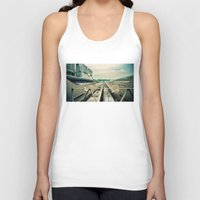 train Tank Tops featuring Train station by Sookie Endo