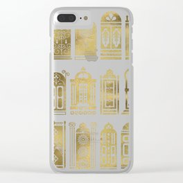 Moroccan Doors – Gold Palette Clear iPhone Case