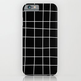 Wonky grid lines iPhone Case