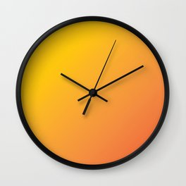 Ripe Orange - Gradient Wall Clock