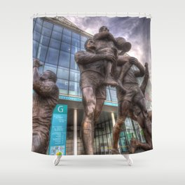 Rugby League Legends statue Wembley stadium Shower Curtain