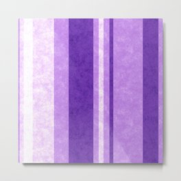 Retro Vintage Lilac Grunge Stripes Metal Print