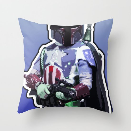 Captain Fett Throw Pillow