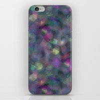 holographic iPhone & iPod Skins featuring Dark holographic by ravynka