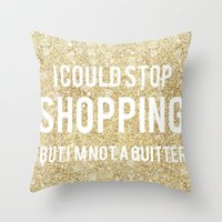 shopping Throw Pillows featuring Shopping by LuxuryLivingNYC